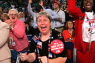 A 24 MG IMAGE OF:..Delegates cheer at the Republican National Convention in New York, NY on September 1, 2004.  Photo by Dennis Brack