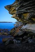Rockface, Balmoral Beach, Sydney Harbour, Australia