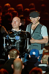 © Licensed to London News Pictures.  30/11/2012. LONDON, UK. Gadget Show presenters Jason Bradbury (pictured right), Pollyanna Woodward (not pictured) and Jon Bentley (not pictured) host a Christmas themed technology show at the Gadget Show Live event at the ExCel centre in London, The event opened today (Friday 30th) and runs until Sunday. . Photo credit :  Cliff Hide/LNP