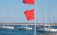 VLIELAND - De jachthaven van Vlieland is  vol. ANP COPYRIGHT KOEN SUYK