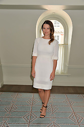 JULIET ANGUS at a breakfast hosted by Halcyon Days at Fortnum & Mason, 181 Piccadilly, London on 8th July 2014.