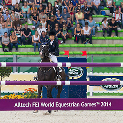 Edwina Tops Alexander, (AUS), Ego Van Orti - World Champions, - Second Round Team Competition - Alltech FEI World Equestrian Games™ 2014 - Normandy, France.<br /> © Hippo Foto Team - Leanjo De Koster<br /> 25/06/14