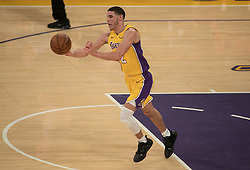 November 21, 2017 - Los Angeles, California, United States of America - Lonzo Ball #2 of the Los Angeles Lakers during their game with the Chicago Bulls on Tuesday November 21, 2017 at the Staples Center in Los Angeles, California. Lakers defeat Bulls, 103-94. JAVIER ROJAS/PI (Credit Image: © Prensa Internacional via ZUMA Wire)