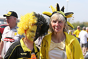 Burton Albion fans during the Sky Bet League 1 match between Doncaster Rovers and Burton Albion at the Keepmoat Stadium, Doncaster, England on 8 May 2016. Photo by Simon Davies.