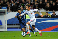 FOOTBALL - FRIENDLY GAME 2012 - FRANCE v JAPAN - STADE DE FRANCE ( SAINT DENIS ) FRANCE - 12/10/2012 - PHOTO JEAN MARIE HERVIO / REGAMEDIA / DPPI - HIROSHI KIYOTAKE (JAP) / GAEL CLICHY (FRA)