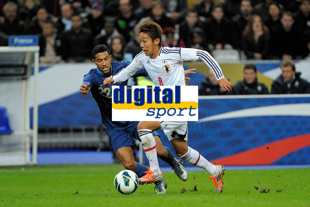 FOOTBALL - FRIENDLY GAME 2012 - FRANCE v JAPAN - STADE DE FRANCE ( SAINT DENIS ) FRANCE - 12/10/2012 - PHOTO JEAN MARIE HERVIO / REGAMEDIA / DPPI - HIROSHI KIYOTAKE (JAP) / GAEL CLICHY (FRA)