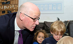 Pictured: Mr Swinney and Torrin Smith (aged four)<br /> Deputy First Minister John Swinney visited Cowgate Nursery in Edinburgh to meet children, staff and modern apprentices working in early years and childcare. Mr Swinney confirmed that a record number of early years apprenticeships are expected to start this year as part of the expansion of free nursery and childcare.  Mr Swinney toured the nursery and discussed the City of Edinburgh Council&rsquo;s plans to expand the early years and childcare workforce and met with modern apprentices as well as Jake Stefanovic, an ambassador from the Scottish Government&rsquo;s childcare recruitment campaign.<br /> <br /> <br /> Ger Harley | EEm 13 February 2018