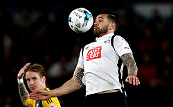Bradley Johnson of Derby County controls the ball - Mandatory by-line: Robbie Stephenson/JMP - 04/04/2017 - FOOTBALL - Pride Park Stadium - Derby, England - Derby County v Fulham - Sky Bet Championship