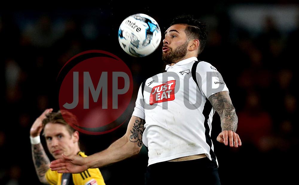 Bradley Johnson of Derby County controls the ball - Mandatory by-line: Robbie Stephenson/JMP - 04/04/2017 - FOOTBALL - Pride Park Stadium - Derby, England - Derby County v Fulham - Sky Bet Championship