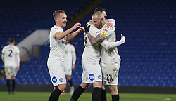 Marcus Maddison of Peterborough United is congratulated by team-mates after scoring - Mandatory by-line: Joe Dent/JMP - 09/01/2019 - FOOTBALL - Stamford Bridge - London, England - Chelsea U21 v Peterborough United - Checkatrade Trophy
