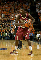 Boston College guard Rakim Sanders (15) in action against Virginia.  The Virginia Cavaliers men's basketball team defeated the Boston College Golden Eagles 84-66 at the John Paul Jones Arena in Charlottesville, VA on January 19, 2008.