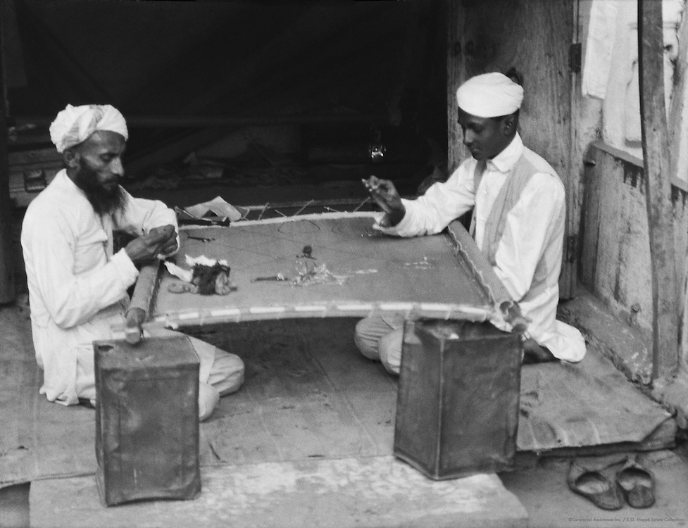 Embroidering, Udaipur, India, 1929