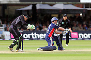 Photo © ANDREW FOSKER / SECONDS LEFT IMAGES 2008  - Tim Ambrose gives up his wicket cutting a Daniel Vettori delivery to sub James Marshall for 2 -  England v New Zealand Black Caps - 5th ODI - Lord's Cricket Ground - 28/06/08 - London -  UK - All rights reserved