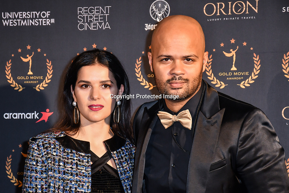 Jeremy Gabon is an French actor arrivers at Gold Movie Awards at Regents Street Theatre, on 9th January 2020, London, UK.