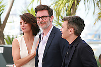 Actress Bérénice Bejo, director Michel Hazanavicius, Producer Thomas Langmann at the photo call for the film The Search at the 67th Cannes Film Festival, Wednesday 21st  May 2014, Cannes, France.