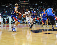 """Ole Miss' Jarvis Summers (32) vs. SMU at the C.M. """"Tad"""" Smith Coliseum in Oxford, Miss. on Tuesday, January 3, 2012. Ole Miss won 50-48."""