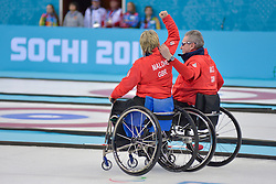 Angie Malone, Jim Gault, Wheelchair Curling Finals at the 2014 Sochi Winter Paralympic Games, Russia