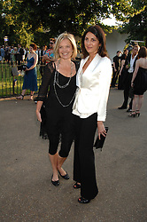 Left to right, MARIELLA FROSTRUP and actress GINA BELLMAN at the annual Serpentine Gallery Summer Party in association with Swarovski held at the gallery, Kensington Gardens, London on 11th July 2007.<br />