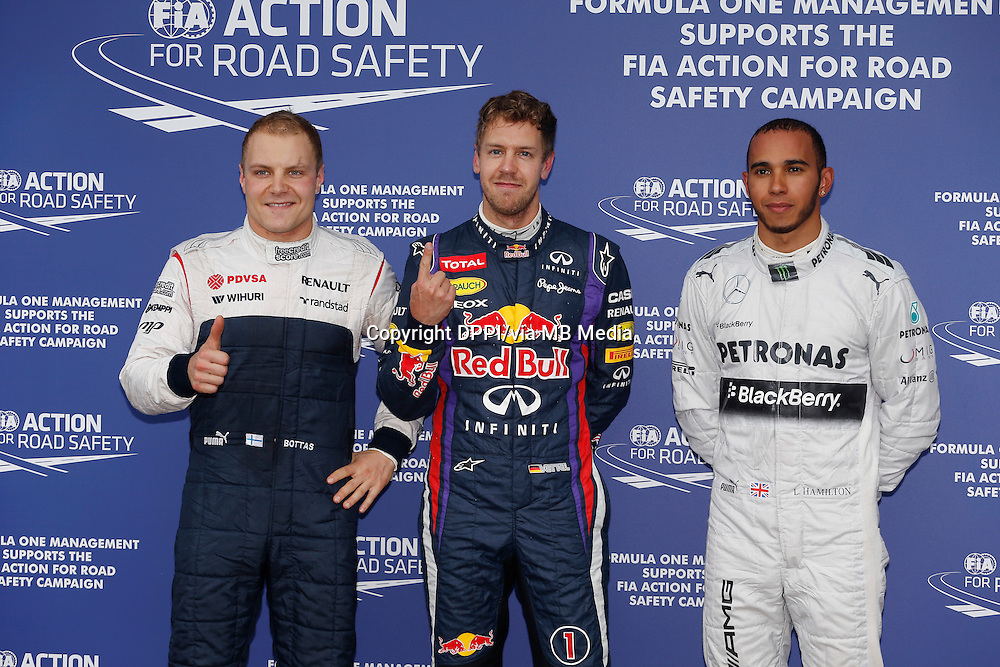 MOTORSPORT - F1 2013 - GRAND PRIX OF CANADA - MONTREAL (CAN) - 07 TO 09/06/2013 - PHOTO FRANCOIS FLAMAND / DPPI - VETTEL SEBASTIAN (GER) - RED BULL RENAULT RB9 - AMBIANCE PORTRAIT BOTTAS VALTTERI (FIN) - WILLIAMS F1 RENAULT FW35 - AMBIANCE PORTRAIT HAMILTON LEWIS (GBR) - MERCEDES GP MGP W04 - AMBIANCE PORTRAIT