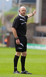 WREXHAM, WALES - Saturday, May 3, 2014: Referee Brian James during the Welsh Cup Final between Aberystwyth Town and The New Saints at the Racecourse Ground. (Pic by David Rawcliffe/Propaganda)