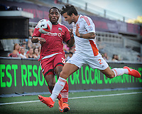 July 27, 2015: Ottawa Fury FC defender Eddie Edward (#3) during the NASL match between the Ottawa Fury FC and Carolina Railhawks at TD Place Stadium in Ottawa, ON. Canada on July 27, 2016. The Fury recording a 2-0 win.<br /> <br /> PHOTO: Steve Kingsman/Freestyle Photography