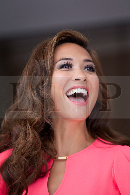 © Licensed to London News Pictures. 14/11/2012. London, UK. Singer Myleen Klass is seen at the opening of the 2012 Ideal Home at Christmas show at Earl's Court, London, today (14/11/12). The show, running from the 14th to the 18th of November features over 600 exhibitors across 6 sections including; Interiors & Furnishings, Food & Drink, Home Improvements & Outdoor Living, Fashion & Beauty, Technology & Gadgets and Gifts & Decorations. Photo credit: Matt Cetti-Roberts/LNP