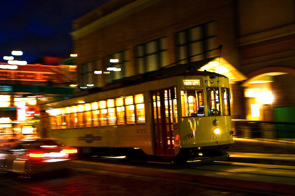 Trolley, Ybor City, Tampa, FL