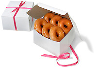 glazed donuts in gift boxes