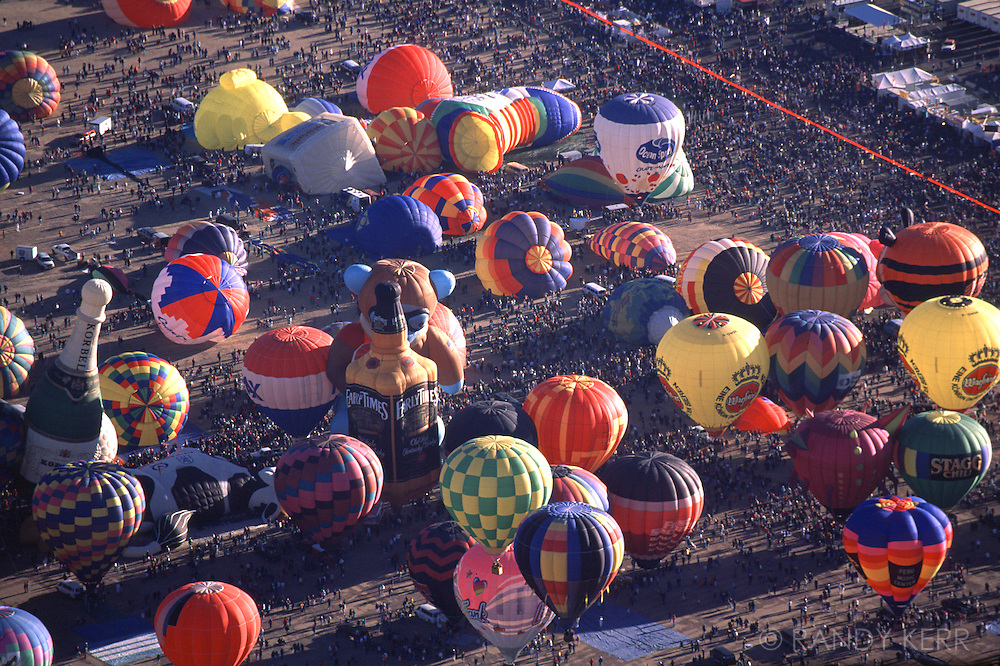 Balloons getting ready to ascend