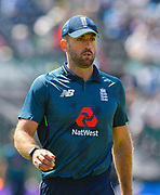 Liam Plunkett of England during the third Royal London One Day International match between England and Pakistan at the Bristol County Ground, Bristol, United Kingdom on 14 May 2019.