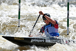June 2, 2018 - Prague, Czech Republic - Mallory Franklin of Great Britan in action during the Women's C1 finals at the European Canoe Slalom Championships 2018 at Troja water canal in Prague, Czech Republic. (Credit Image: © Slavek Ruta via ZUMA Wire)