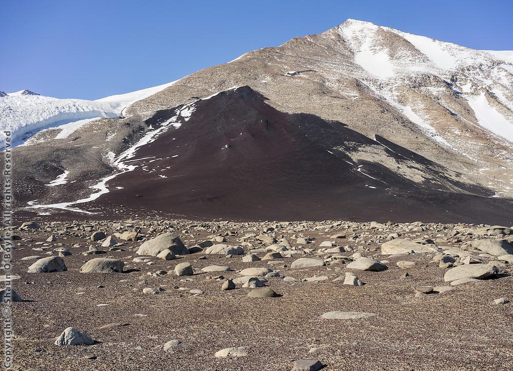 Eroded basalt cinder cone