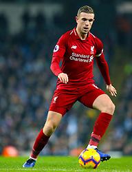 Liverpool's Jordan Henderson during the Premier League match at the Etihad Stadium, Manchester.