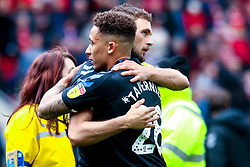Lewis Wing of Middlesbrough hugs Marcus Tavernier of Middlesbrough - Mandatory by-line: Ryan Crockett/JMP - 05/05/2019 - FOOTBALL - Aesseal New York Stadium - Rotherham, England - Rotherham United v Middlesbrough - Sky Bet Championship