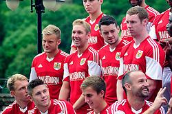 Bristol City's Scott Wagstaff laughs during the teams photo call - Photo mandatory by-line: Dougie Allward/JMP - Tel: Mobile: 07966 386802 31/07/2013 - SPORT - FOOTBALL - Avon Gorge Hotel - Clifton Suspension bridge - Bristol -  Team Photo