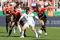 03.06.2011, Osnatel Arena, Osnabrueck, GER, WM 2012 FSP,  Deutschland (GER) vs Italien (ITA), .im Bild Kim Kulig  (re./GER) vs Patrizia Panico (ITA) during the WM 2011 Friendly Game, Germany vs Italy, at Osnatel Arena, Osnabrück, 2011-06-03, .EXPA Pictures © 2011, PhotoCredit: EXPA/ nph/  Hessland       ****** out of GER / SWE / CRO  / BEL ******