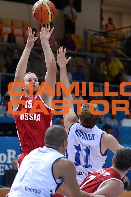 DESCRIZIONE : Capodistria Koper Slovenia Eurobasket Men 2013 Preliminary Round Finlandia Russia Finland Russia<br /> GIOCATORE : Anton Ponkrashov<br /> CATEGORIA : Tiro<br /> SQUADRA : Russia<br /> EVENTO : Eurobasket Men 2013<br /> GARA : Finlandia Russia Finland Russia<br /> DATA : 08/09/2013<br /> SPORT : Pallacanestro&nbsp;<br /> AUTORE : Agenzia Ciamillo-Castoria/Max.Ceretti<br /> Galleria : Eurobasket Men 2013 <br /> Fotonotizia : Capodistria Koper Slovenia Eurobasket Men 2013 Preliminary Round Finlandia Russia Finland Russia<br /> Predefinita :