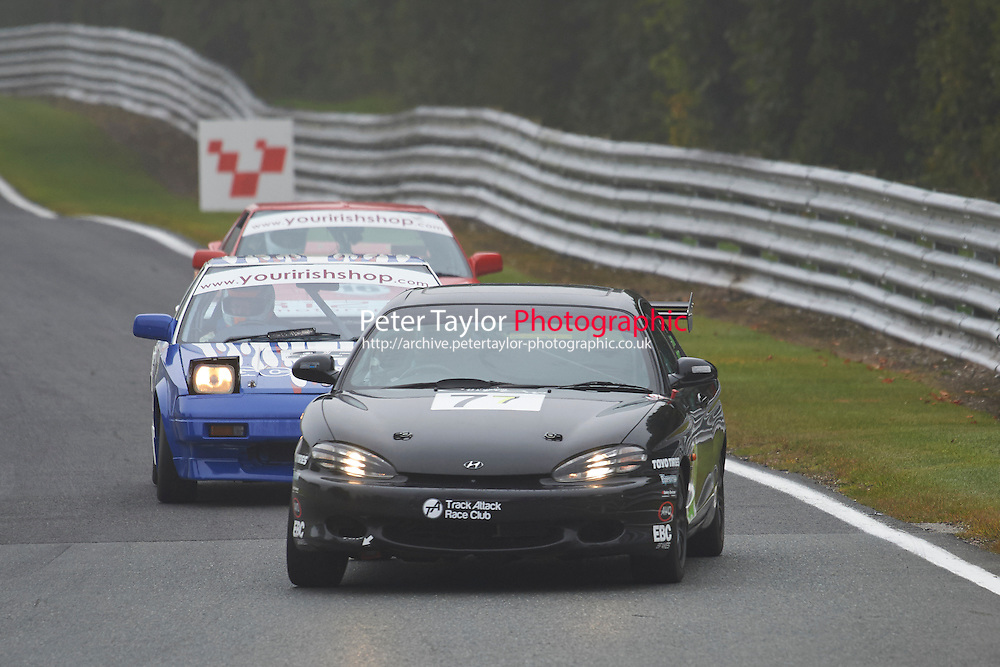 #77 Kevin MIDDLETON Hyundai Coupe during Nippon Challenge / Youririshshop.com MR2 Racing Series - Qualifying  as part of the BARC Championships Race Day at Oulton Park, Little Budworth, Cheshire, United Kingdom. October 03 2015. World Copyright Taylor/PSP. Copy of publication required for printed pictures.  Every used picture is fee-liable. http://archive.petertaylor-photographic.co.uk