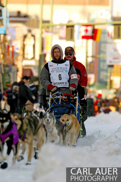 3/3/2007:  Anchorage Alaska -  Veteran Sebastian Schnuelle of Whitehorse, YT CANADA during the Ceremonial Start of the 35th Iditarod Sled Dog Race