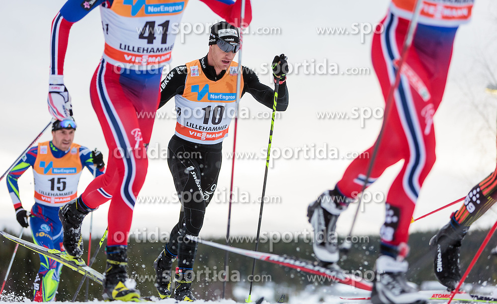 05.12.2015, Nordic Arena, NOR, FIS Weltcup Langlauf, Lillehammer, Herren, im Bild Dario Cologna (SUI) // Dario Cologna of Switzerland during Mens Cross Country Competition of FIS Cross Country World Cup at the Nordic Arena, Lillehammer, Norway on 2015/12/05. EXPA Pictures © 2015, PhotoCredit: EXPA/ JFK