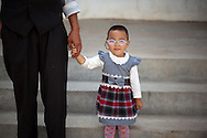 CLIENT: PROJECT HOPE<br /> <br /> A young patient leaves Ondorhan hospital's outpatient eye clinic with her new glasses in Ondorhan, Mongolia, about five hours outside of the capitol of Ulaanbaatar, the during Project HOPE's Pacific Angel Mongolia mission.