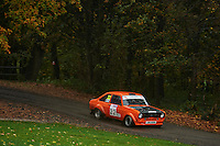 #22 Peter Jackson / Craig Simkiss Ford Escort Garstang & Preston / Bolton-le-Moors gos heating ltdduring Neil Howard Memorial Stage Rally, and opening round of the 2015 Motorsport News Rally Championship.  at Oulton Park, Little Budworth, Cheshire, United Kingdom. November 07 2015. World Copyright Peter Taylor. Copy of publication required for printed pictures.  Every used picture is fee-liable. http://archive.petertaylor-photographic.co.uk