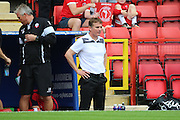 Bolton Wanderers manager Phil Parkinson looking on during the EFL Sky Bet Championship match between Charlton Athletic and Bolton Wanderers at The Valley, London, England on 27 August 2016. Photo by Matthew Redman.