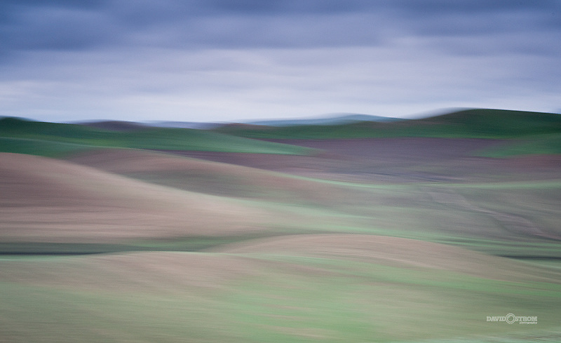 Cloudy day in the Palouse region of Eastern Washington near Pullman, Washington