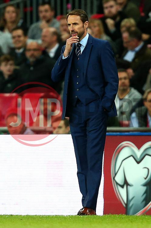 England Manager Gareth Southgate looks on thoughtfully - Mandatory by-line: Robbie Stephenson/JMP - 05/10/2017 - FOOTBALL - Wembley Stadium - London, United Kingdom - England v Slovenia - World Cup qualifier