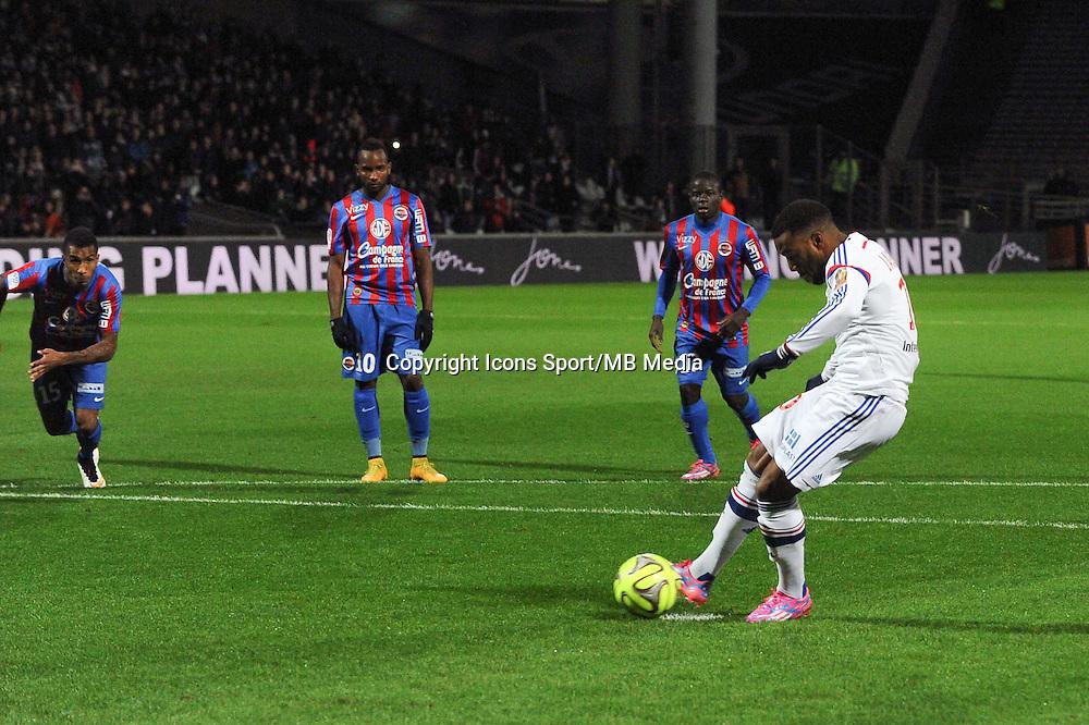 Goal Alexandre LACAZETTE - 12.12.2014 - Lyon / Caen - 18eme journee de Ligue 1 -<br />Photo : Jean Paul Thomas / Icon Sport