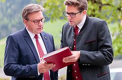 11.05.2017, Congress Centrum, Alpbach, AUT, Landeshauptleutekonferenz, Empfang, im Bild v.l.: LH Günther Platter (TI), Thomas Saurer Protokollchef // f.l.: Governor of the province Tyrol Günther Platter (OeVP) and Thomas Sauer Head of Protocol during the Governors conference of the Austrian Provinces at Congress Centrum in Alpbach, Austria on 2017/05/11. EXPA Pictures © 2017, PhotoCredit: EXPA/ Johann Groder