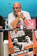 Roma 8 Novembre 2014<br /> Manifestazione internazionale  Viva La Rivoluzione Sovietica, organizzata dal Partito Comunista per ribadire la giustezza delle idee che portarono alla rivoluzione bolscevica in Russia, della quale ricorre il 97&deg; anniversario e per celebrare la grande storia del comunismo. Nella foto: Marco Rizzo , segretario generale del Partito Comunista<br /> Rome November 8, 2014<br /> Event International &quot;Viva La Revolution Soviet&quot; organized by the Communist Party to reaffirm the correctness of the ideas that led to the Bolshevik revolution in Russia, which is celebrating the 97th anniversary and to celebrate the great history of communism. Pictured: Marco Rizzo, general secretary of the Communist Party