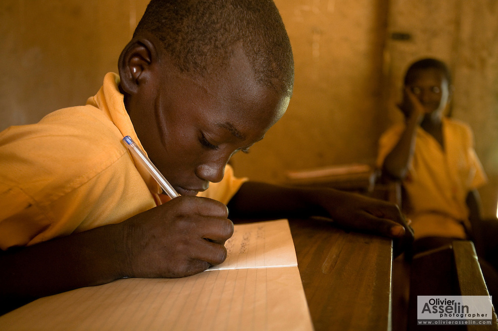 A boy writes in his workbook during class at the Ying Anglican Primary School in the Savelugu-Nanton district, northern Ghana on Monday June 4, 2007.