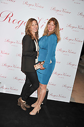 Left to right, AZRA HAYER and DR SHERRIE BAEHR at a party hosted by Ines de la Frassange and Bruno Frisoni for Roger Vivier to launch the Roger Vivier book held at The Saatchi Gallery, London on 24th April 2013.